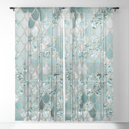 Mermaid Glitter Scales #3 #shiny #decor #art #society6 Sheer Curtain