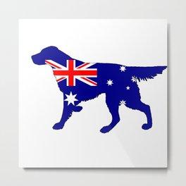 Australian Flag - Setter Metal Print