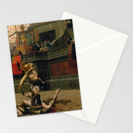 With A Turned Thumb - Pollice Verso Stationery Cards