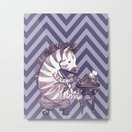 Typin' Stripes Metal Print