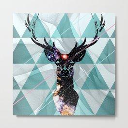 Majestic Space Deer Metal Print