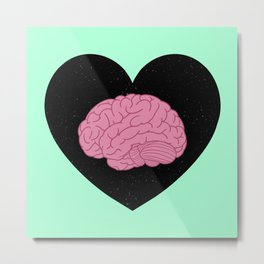 Mental Health Awareness Love Metal Print