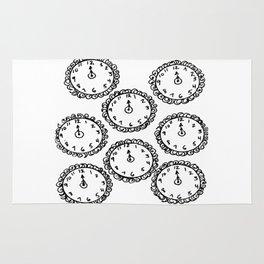 Tick Tock Clocks Rug