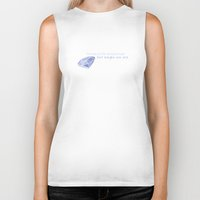 ouat Biker Tanks featuring Swan Queen Quote (OUAT) by CLM Design