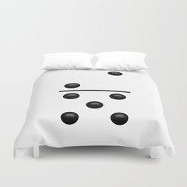 White Domino / Domino Blanco Duvet Cover
