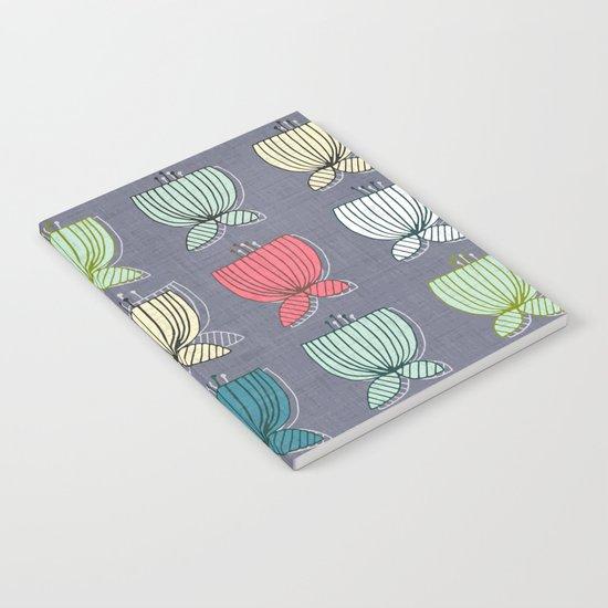 flower cups amethyst art Notebook