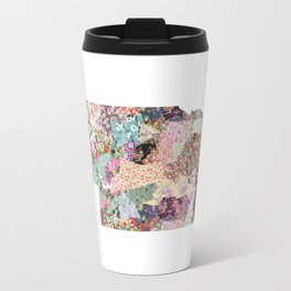 Nebraska map Landscape Travel Mug