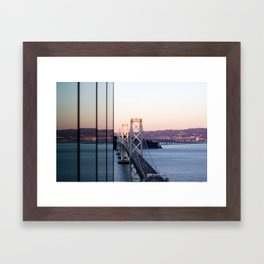 Reflections of the Bay Bridge Framed Art Print