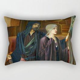 "Edward Burne-Jones ""The Wizard"" Rectangular Pillow"
