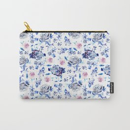 Crystalised Roses in Ming Porcelain  Carry-All Pouch