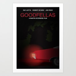 Goodfellas tribute poster Art Print