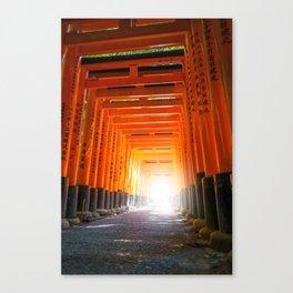 Fushimi Inari Taisha torii, Kyoto, Japan Canvas Print