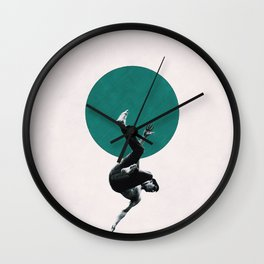 Falling with style Wall Clock