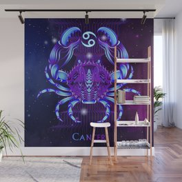 Zodiac neon signs — Cancer Wall Mural