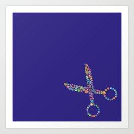 scissors / tijeras Art Print