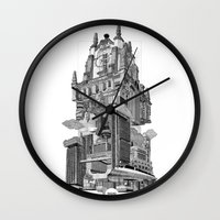 madrid Wall Clocks featuring MADRID 360º by DOURONE