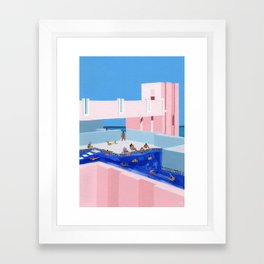Spain Pool Framed Art Print