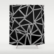 Shattered Ab Zoom Shower Curtain