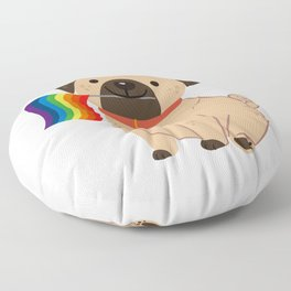 LGBT Gay Pride Flag Pug - Pride Gay Floor Pillow