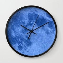 MOON GLOW BLUE Wall Clock