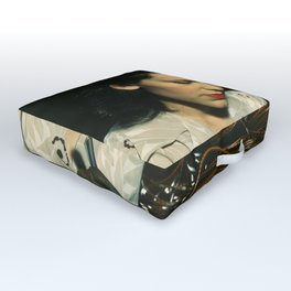 WWII Woman Aircraft Worker Outdoor Floor Cushion
