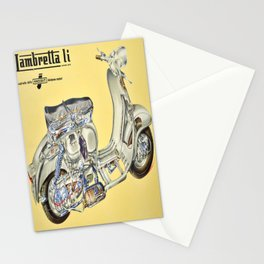 cartellone lambretta li dalla innocenti Stationery Cards