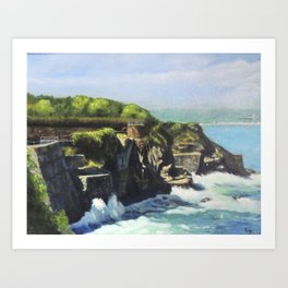 Cliff Walk Forty Steps Newport Rhode Island RI Art Print
