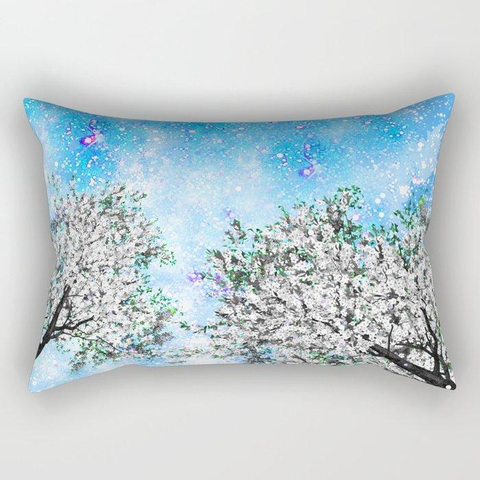 NEBULA TREES Rectangular Pillow