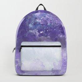 Choppy Purple Ocean Water Backpack