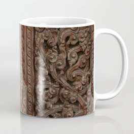 Ancient wooden carving Coffee Mug