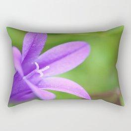 Campanula macro Rectangular Pillow