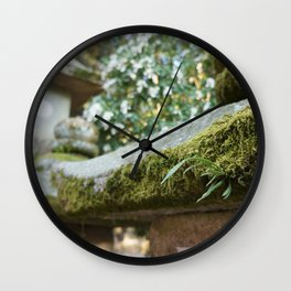 Mossy Lanterns Japan Wall Clock