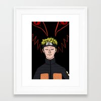 naruto Framed Art Prints featuring Naruto by nu boniglio