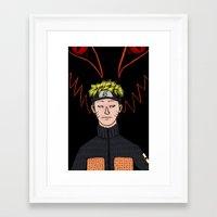 naruto Framed Art Prints featuring Naruto by nu boniglio