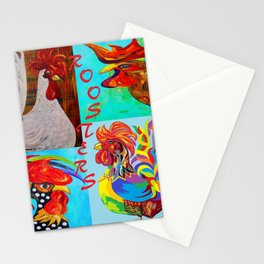 Rooster Menagerie Stationery Cards