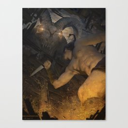 Night visitor Canvas Print