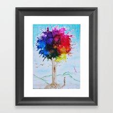 Tree Of Colour Framed Art Print