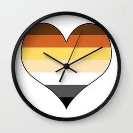 Bear Heart Wall Clock