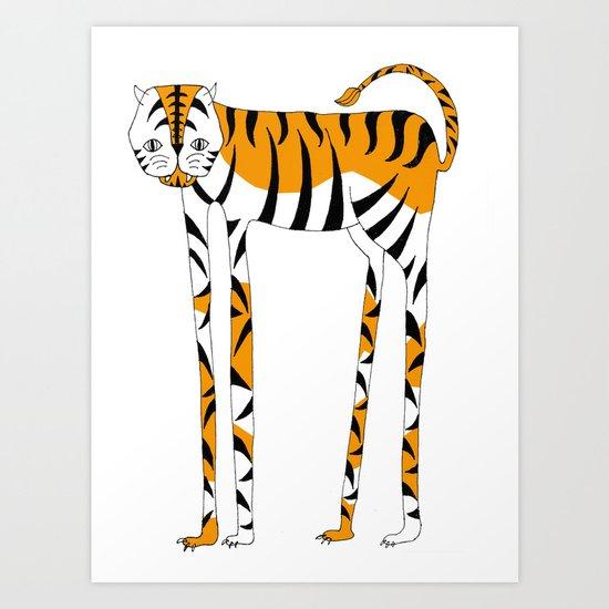 Long legs Tiger Art Print