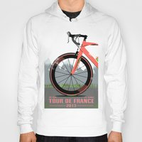 tour de france Hoodies featuring Tour De France Bike by Wyatt Design