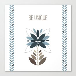 Be unique - Retro flowers Canvas Print