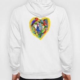 I heart parrots cute cartoon Hoody