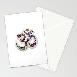 Namaste Floral Yoga Symbol Stationery Cards