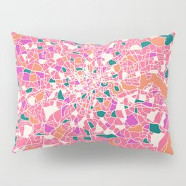London England Colorful Map Pillow Sham