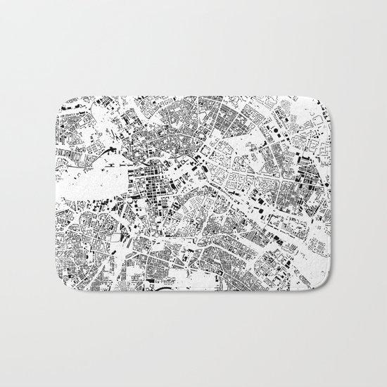 Berlin Map Schwarzplan Only Buildings Bath Mat