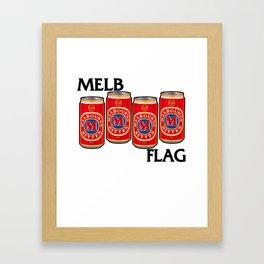 Melbournes Burning Framed Art Print