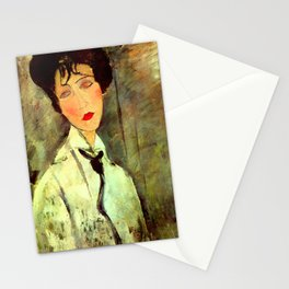 "Amedeo Modigliani ""Woman in Black Tie"" Stationery Cards"