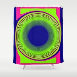 Blue Pink Twist Shower Curtain