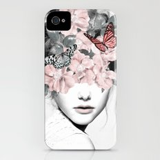 WOMAN WITH FLOWERS 10 iPhone (4, 4s) Slim Case