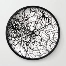 Chrysanthemum Circle Wall Clock